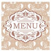 šablona návrhu menu restaurace vektor — Stock vektor