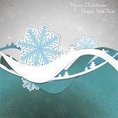 Cartão de natal com flocos de neve — Vetorial Stock