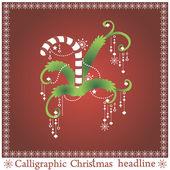 Calligraphic Christmas sweet — Stock Vector