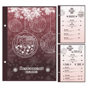 Abstract vector Christmas menu for Pizza design template — Stock Vector