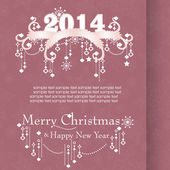 Christmas background for invitation — Vector de stock