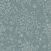 Fondo de invierno con copos de nieve — Vector de stock