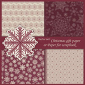 Christmas gift paper — Vector de stock