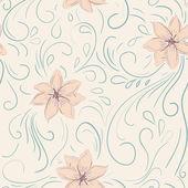 Vintage çiçek seamless modeli — Stok Vektör
