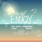 Enjoy the best summer. — Vector de stock