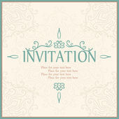 Invitation card with lace ornament. — Stok Vektör