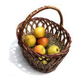 与苹果的篮子 — 图库照片