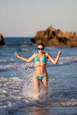 Adult woman having fun — Stock Photo