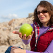 Apple girl — Stockfoto
