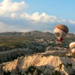 Hot air balloons rise over Cappadocia, Turkey — Stock Photo