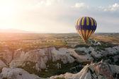 Hot air balloons rise over Cappadocia, Turkey — Stock Photo
