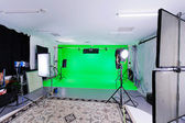 Green Screen Studio — Stock Photo