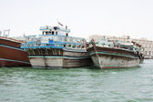 Dhows at Dubai Creek — Stockfoto