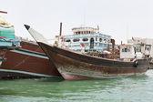 ドバイ ・ クリークのダウ船 — ストック写真