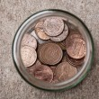 Pennies in a Jar — Stock Photo