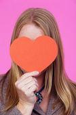 Dziewczyna z serca — Zdjęcie stockowe