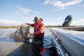 Eel Fisherman — Stock Photo