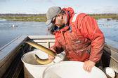 Eel Fisherman — Stockfoto