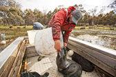 Pescador de enguia — Fotografia Stock