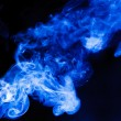 Smoke over black background. Abstract, nature, fire — Stock Photo