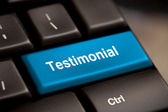 Testimonial il tasto return — Foto Stock