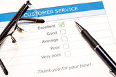 Online customer service satisfaction survey — Zdjęcie stockowe