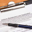 Stock Photo: Mortgage Loan Application
