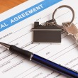 Rental agreement form — Stock Photo #13405430