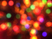 Blurred christmas lights background. — Stock Photo