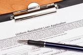 Mortgage Loan Application — Stock Photo