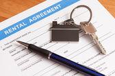 Forma di contratto di noleggio — Foto Stock