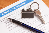 Rental agreement form — Stockfoto