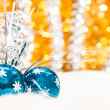 Christmas baubles background - Stock Photo