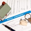 Rental agreement form - Stock Photo