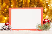 Christmas card with copy space — Stock Photo