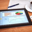 Desk with digital tablet. Marketing Research. — Stock Photo