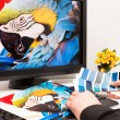 Designer at work. Color samples. — Stock Photo #19379211
