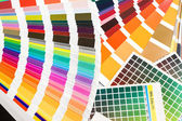 Pantone, cmyk, ral color swatches — Stock Photo