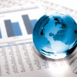 Glass globe business. Global Market - Stock Photo