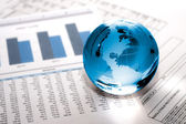 Glass globe business. Global Market — Stock Photo