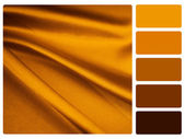 Gold satin colour palette swatch — Stock Photo