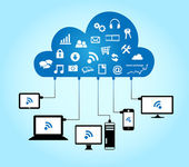 Cloud computing koncept — Stockvektor