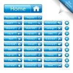 Web Elements Vector Button — Stock Vector