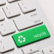 Recycle symbol on a Computer keyboard — Stock Photo #25319265