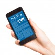 News on mobile phone, smart phone. — Stock Photo #26267815
