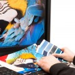 Designer at work. Color samples. — Stock Photo #26997163