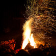 Fireplace with sparks — Stock Photo