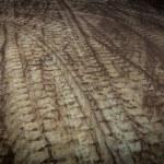 Curve tire track — Stock Photo