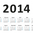 Simple 2014 Calendar — Stock Vector #31568131