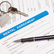 Rental agreement form — Stock Photo